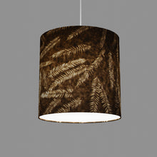 Drum Lamp Shade - P26 - Resistance Dyed Brown Fern, 30cm(d) x 30cm(h)