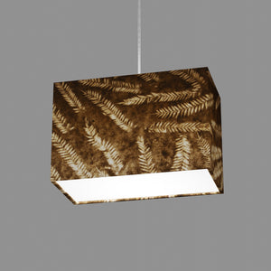 Rectangle Lamp Shade - P26 - Resistance Dyed Brown Fern, 30cm(w) x 20cm(h) x 15cm(d)