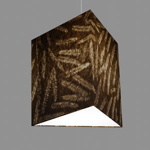 Triangle Lamp Shade - P26 - Resistance Dyed Brown Fern, 40cm(w) x 40cm(h)