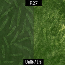 Drum Lamp Shade - P27 - Resistance Dyed Green Fern, 20cm(d) x 20cm(h)