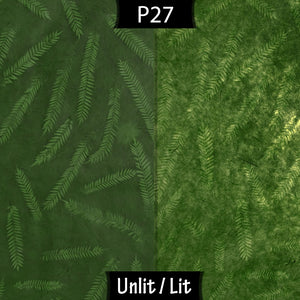 Sapele Tripod Floor Lamp - P27 - Resistance Dyed Green Fern