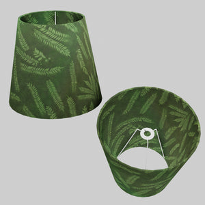 Conical Lamp Shade P27 - Resistance Dyed Green Fern, 23cm(top) x 35cm(bottom) x 31cm(height)