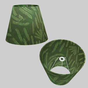 Conical Lamp Shade P27 - Resistance Dyed Green Fern, 23cm(top) x 40cm(bottom) x 31cm(height)