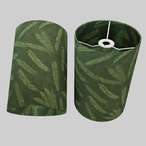 Drum Lamp Shade - P27 - Resistance Dyed Green Fern, 20cm(d) x 30cm(h)