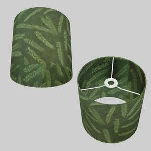Drum Lamp Shade - P27 - Resistance Dyed Green Fern, 25cm x 25cm