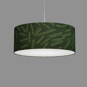 Drum Lamp Shade - P27 - Resistance Dyed Green Fern, 50cm(d) x 20cm(h)