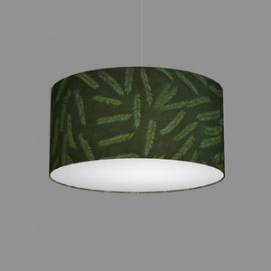 Drum Lamp Shade - P27 - Resistance Dyed Green Fern, 50cm(d) x 25cm(h)