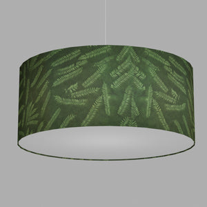 Drum Lamp Shade - P27 - Resistance Dyed Green Fern, 70cm(d) x 30cm(h)
