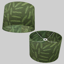 Oval Lamp Shade - P27 - Resistance Dyed Green Fern, 40cm(w) x 30cm(h) x 30cm(d)