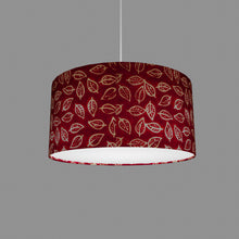 Drum Lamp Shade - P30 - Batik Leaf on Red, 40cm(d) x 20cm(h)