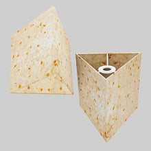 Triangle Lamp Shade - P32 - Marigold Petals on Natural Lokta, 20cm(w) x 20cm(h)