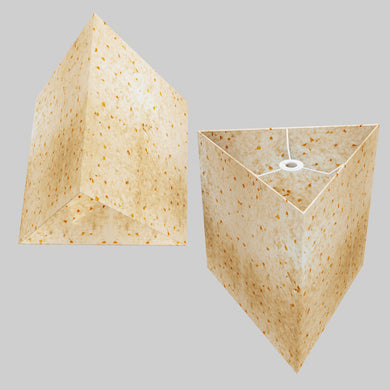 Triangle Lamp Shade - P32 - Marigold Petals on Natural Lokta, 40cm(w) x 40cm(h)