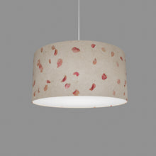 Drum Lamp Shade - P33 - Rose Petals on Natural Lokta, 40cm(d) x 20cm(h)