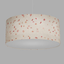 Drum Lamp Shade - P33 - Rose Petals on Natural Lokta, 70cm(d) x 30cm(h)