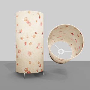 Free Standing Table Lamp Large - P33 ~ Rose Petals on Natural Lokta