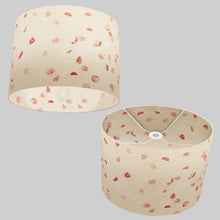 Oval Lamp Shade - P33 - Rose Petals on Natural Lokta, 40cm(w) x 30cm(h) x 30cm(d)