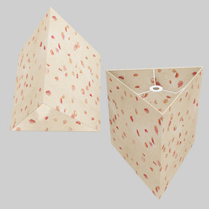 Triangle Lamp Shade - P33 - Rose Petals on Natural Lokta, 40cm(w) x 40cm(h)