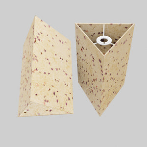 Triangle Lamp Shade - P34 - Cornflower Petals on Natural Lokta, 20cm(w) x 30cm(h)