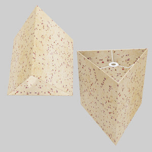 Triangle Lamp Shade - P34 - Cornflower Petals on Natural Lokta, 40cm(w) x 40cm(h)
