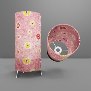 Free Standing Table Lamp Small - P36 ~ Batik Multi Flower on Pink