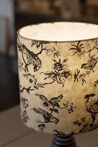 Oak Tripod Floor Lamp - P41 - Oriental Birds