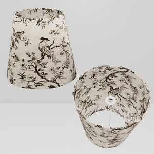 Conical Lamp Shade P41 - Oriental Birds, 23cm(top) x 35cm(bottom) x 31cm(height)
