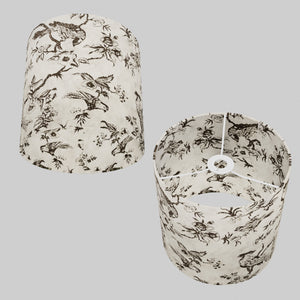 Drum Lamp Shade - P41 - Oriental Birds, 25cm x 25cm