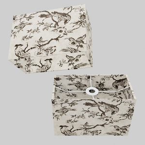 Rectangle Lamp Shade - P41 - Oriental Birds, 30cm(w) x 20cm(h) x 15cm(d)