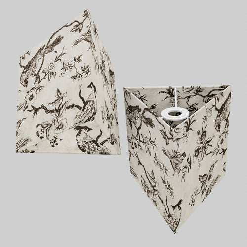 Triangle Lamp Shade - P41 - Oriental Birds, 20cm(w) x 20cm(h)