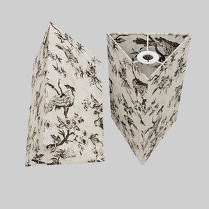 Triangle Lamp Shade - P41 - Oriental Birds, 20cm(w) x 30cm(h)