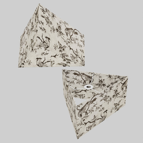 Triangle Lamp Shade - P41 - Oriental Birds, 40cm(w) x 20cm(h)
