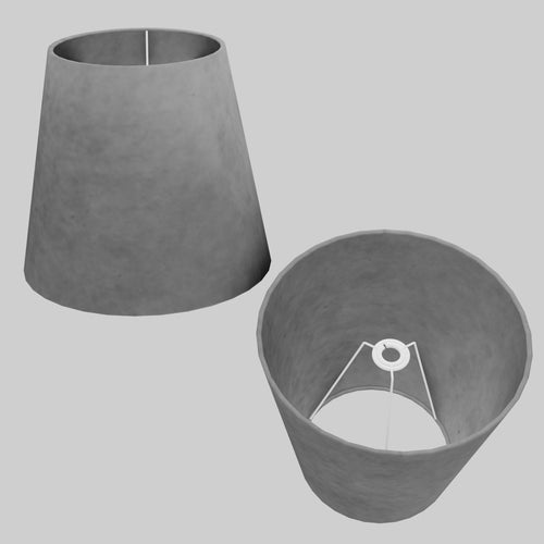 Conical Lamp Shade P53 - Pewter Grey, 23cm(top) x 35cm(bottom) x 31cm(height)