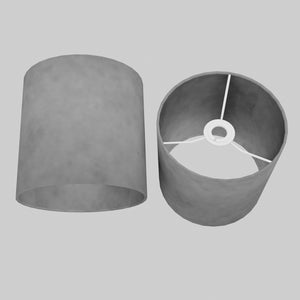 Drum Lamp Shade - P53 - Pewter Grey, 20cm(d) x 20cm(h)