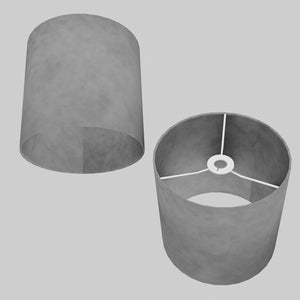 Drum Lamp Shade - P53 - Pewter Grey, 25cm x 25cm