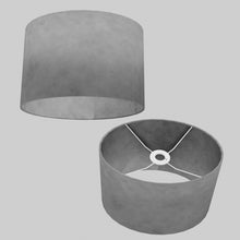 Oval Lamp Shade - P53 - Pewter Grey, 30cm(w) x 20cm(h) x 22cm(d)