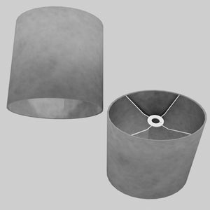 Oval Lamp Shade - P53 - Pewter Grey, 30cm(w) x 30cm(h) x 22cm(d)