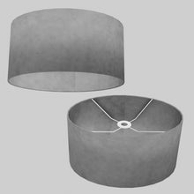 Oval Lamp Shade - P53 - Pewter Grey, 40cm(w) x 20cm(h) x 30cm(d)
