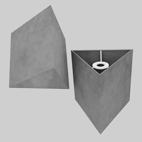 Triangle Lamp Shade - P53 - Pewter Grey, 20cm(w) x 20cm(h)