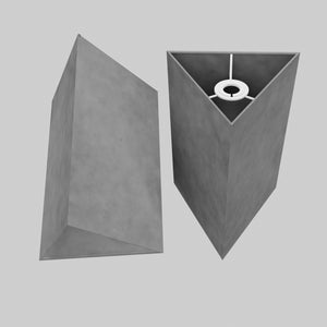 Triangle Lamp Shade - P53 - Pewter Grey, 20cm(w) x 30cm(h)