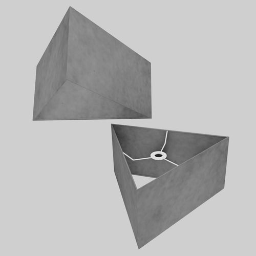Triangle Lamp Shade - P53 - Pewter Grey, 40cm(w) x 20cm(h)