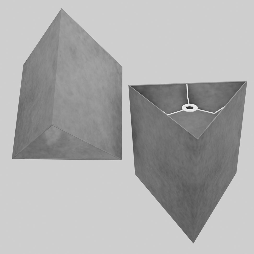 Triangle Lamp Shade - P53 - Pewter Grey, 40cm(w) x 40cm(h)