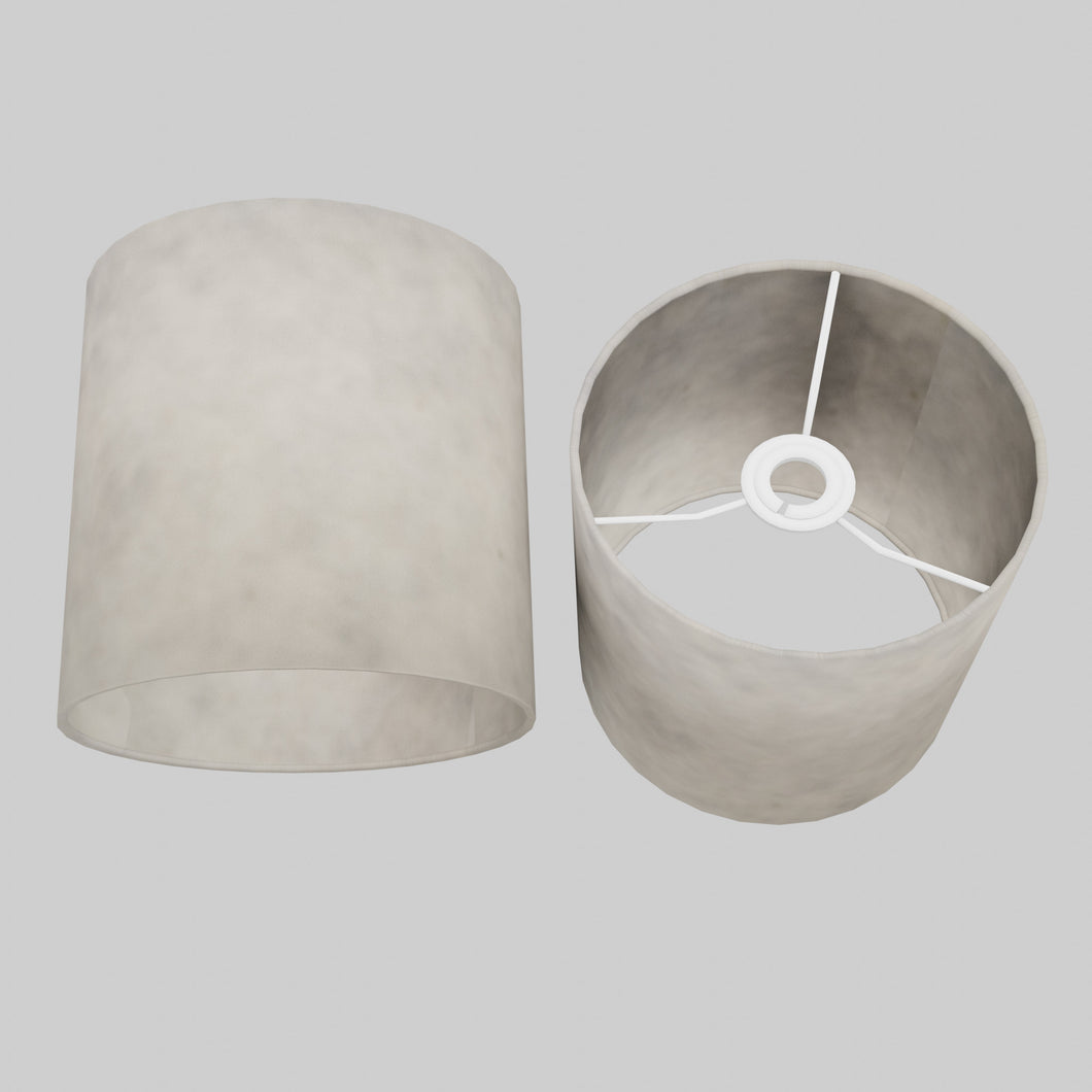 Drum Lamp Shade - P54 - Natural Lokta, 20cm(d) x 20cm(h)