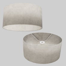 Oval Lamp Shade - P54 - Natural Lokta, 40cm(w) x 20cm(h) x 30cm(d)