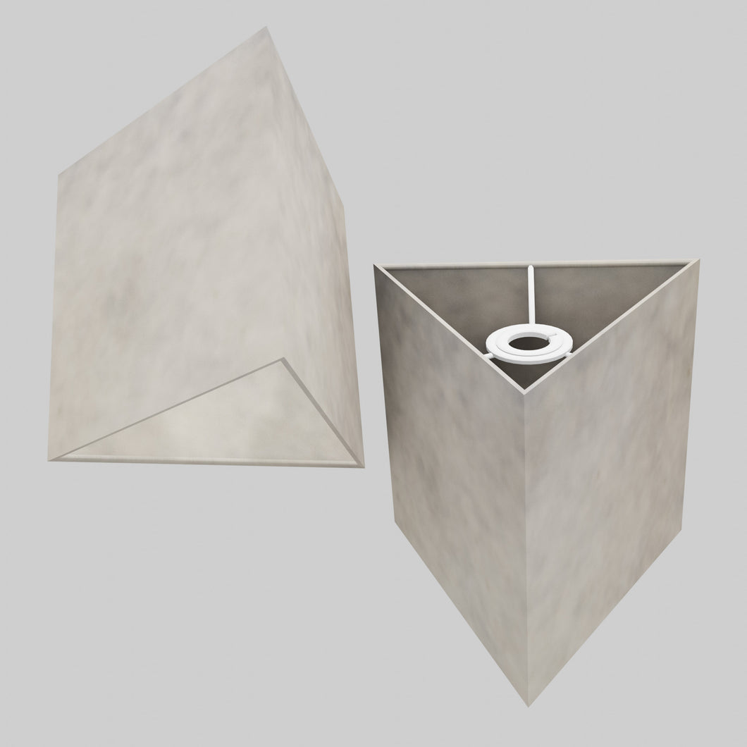 Triangle Lamp Shade - P54 - Natural Lokta, 20cm(w) x 20cm(h)