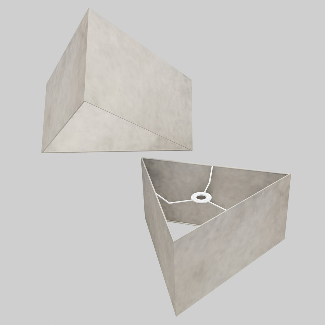Triangle Lamp Shade - P54 - Natural Lokta, 40cm(w) x 20cm(h)