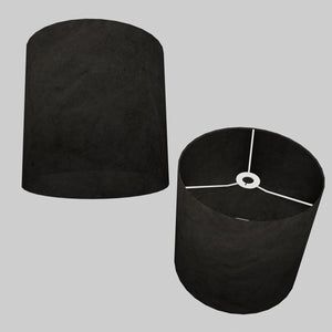 Drum Lamp Shade - P55 - Black Lokta, 30cm(d) x 30cm(h)