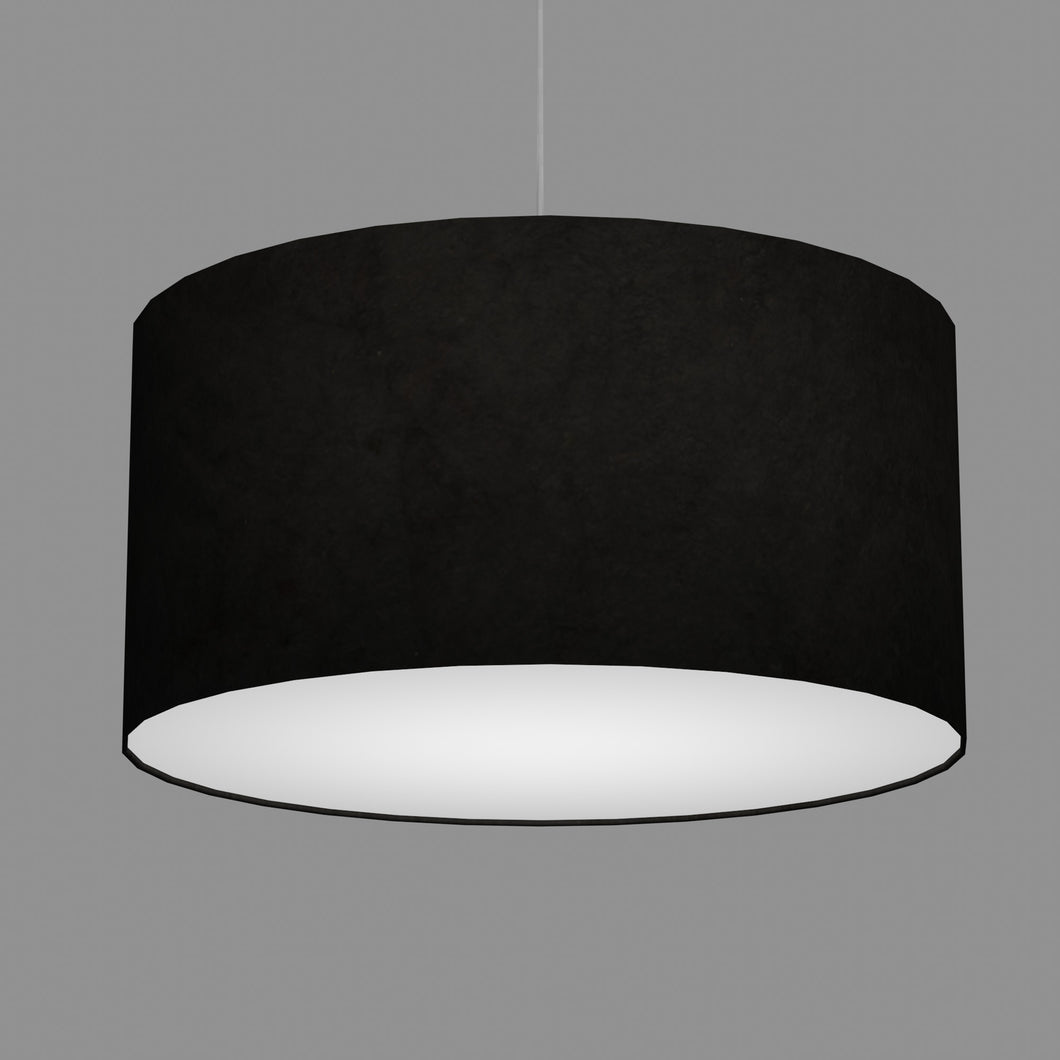 Drum Lamp Shade - P55 - Black Lokta, 60cm(d) x 30cm(h)