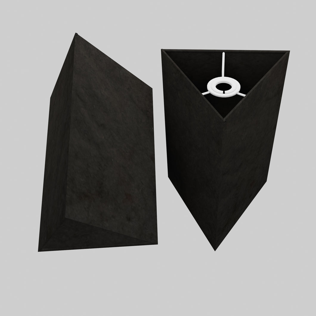 Triangle Lamp Shade - P55 - Black Lokta, 20cm(w) x 30cm(h)