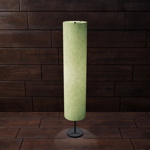 Drum Floor Lamp - P56 - Green Lokta, 22cm(d) x 114cm(h)