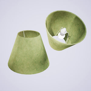 Conical Lamp Shade P56 - Green Lokta , 15cm(top) x 30cm(bottom) x 22cm(height)